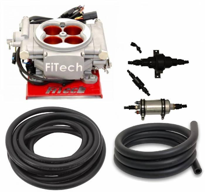 FiTech Fuel Injection - FTH-31003 - 400HP Carb Swap EFI Master Package with In-Line Fuel Pump