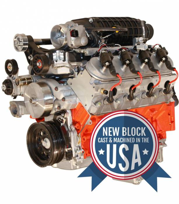Blue Print - LS3 Crate Engine by BluePrint Engines 427CI 750 HP ProSeries Stroker Dressed Longblock with Supercharger Aluminum Heads Roller Cam PSLS4272SCT