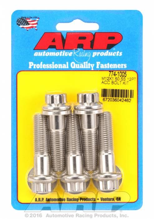 ARP - ARP7741005 - ARP Stainless Steel Metric Thread Bolt Kit M12 x 1.50
