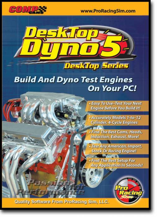 Competition Cams - Competition Cams ProRacing Sim DeskTop Dyno5 Software 186011