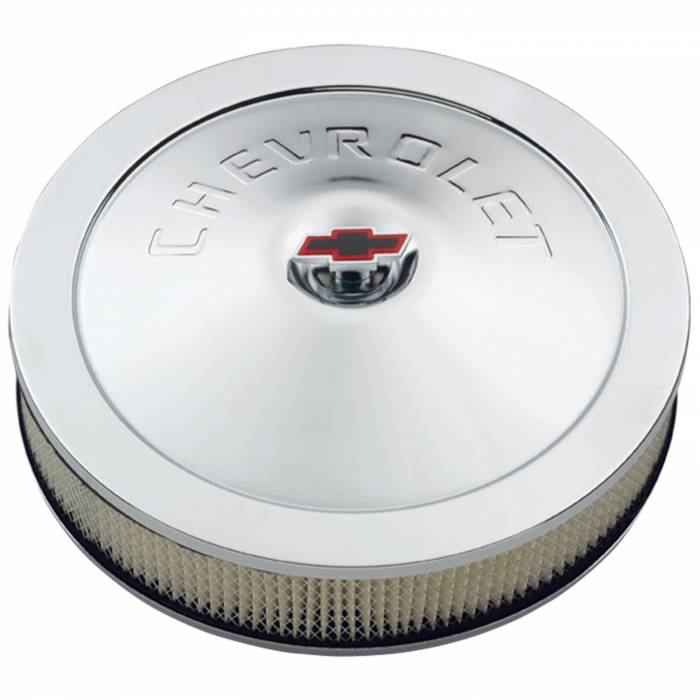 """Proform - 141302 - Chevy 14"""" Classic Air Cleaner Kit with Bowtie Center Nut, 3"""" tall, Air Filter Included"""