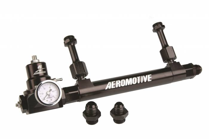 Aeromotive - AEI17251 - Fuel Log, Regulator Combo, Includes Double Adjustable Bypass Regulator