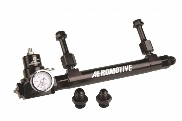 Aeromotive - AEI17249 - Fuel Log, Regulator Combo, Includes Double Adjustable Bypass Regulator