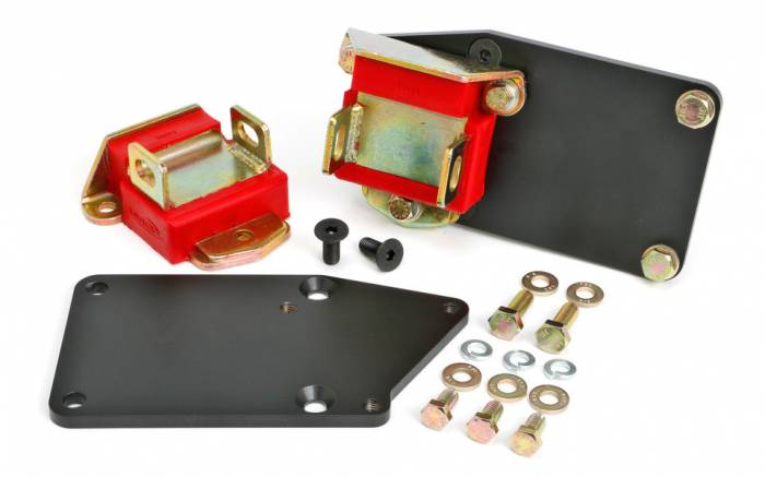 """Trans-Dapt Performance Products - TD4527 - Trans Dapt Engine Swap Mounts for Gen 5 LT Engine into SBC Chassis, 1-1/8"""" Rearwards, Polyurethane Pads"""