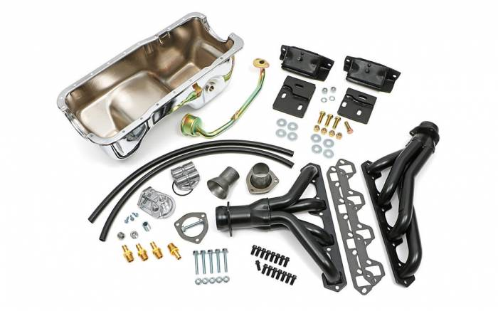 Trans-Dapt Performance Products - Engine Swap In A Box Kit for SB Ford in 83-97 Ford Ranger with Uncoated Headers Trans-Dapt TD97361