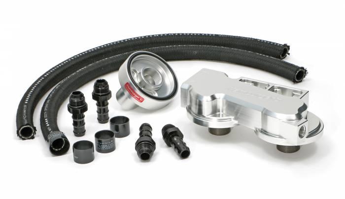 td3318 oil filter relocation kit  dual filter  ford 7 3l