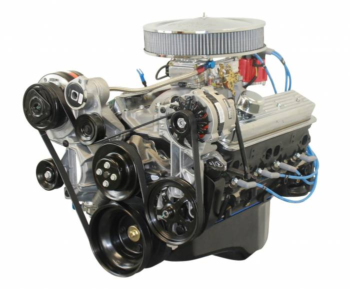 Blue Print - BP3501CTC1K - BluePrint Engines 350CI 365HP Crate Engine Small Block GM Style, Dressed Longblock with Carburetor, Iron Heads, Flat Tappet Cam with Pulley Kit