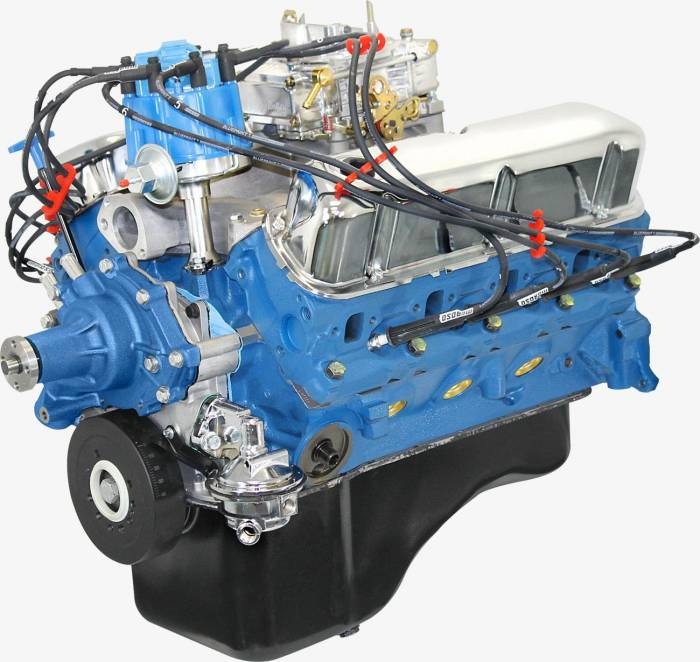 Blue Print - BP3024CTC - BluePrint Engines 302CI 300HP Crate Engine Small Block Ford Style, Dressed Longblock with Carburetor, Iron Heads, Roller Cam