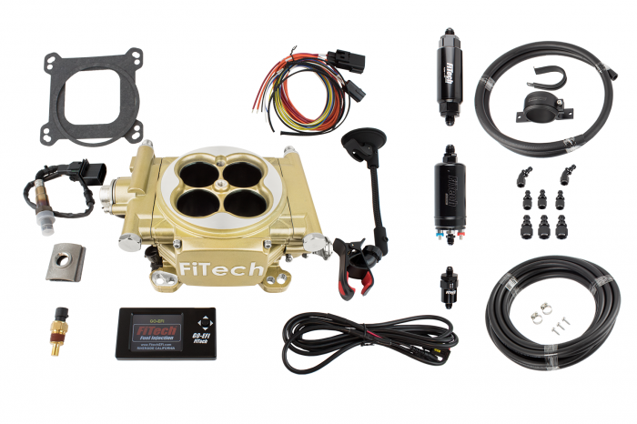 FiTech Fuel Injection - FTH-31005 - Fitech Easy Street EFI 600HP Gold with Inline Fuel Pump Master Kit