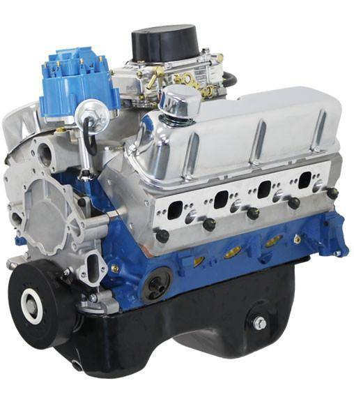Blue Print - BP3060CTC - BluePrint Engines 306CI 370HP Crate Engine Small Block Ford Style, Dressed Longblock with Carburetor, Aluminum Heads, Roller Cam