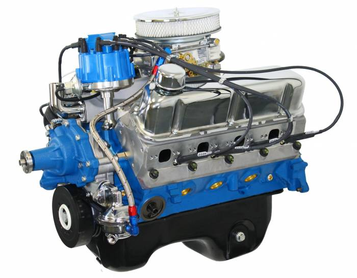 Blue Print - BP3060CTCD - BluePrint Engines 306CI 370HP Crate Engine Small Block Ford Style, Dressed Longblock with Carburetor, Aluminum Heads, Roller Cam, Drop in ready