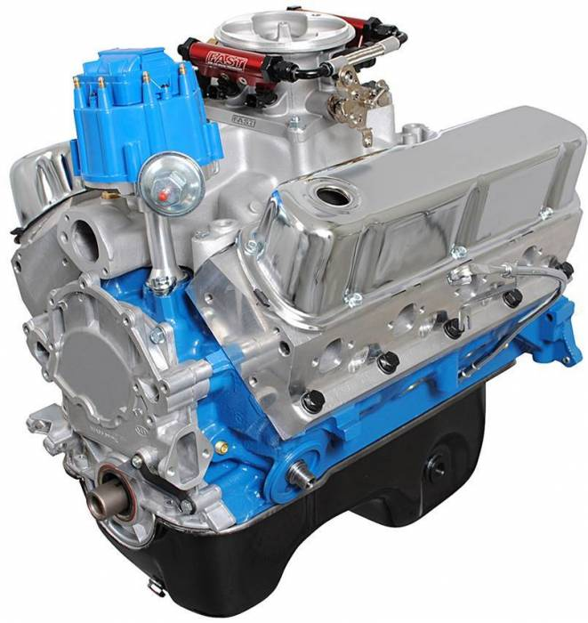 Blue Print - BP3060CTF - BluePrint Engines 306CI 370HP Crate Engine Small Block Ford Style, Dressed Longblock with Fuel Injection, Aluminum Heads, Roller Cam