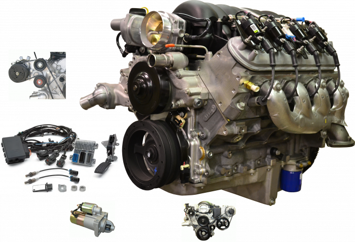 PACE Performance - GMP-19256529-CD - Pace Performance LS3 525HP Crate Engine Package, Prepped and Primed