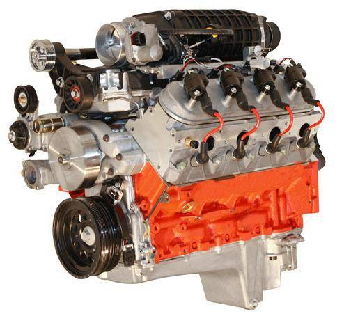 Blue Print - BPLS4080SCT - BluePrint Engines 408CI 725HP Stroker Crate Engine, GM LS Style, Dressed Longblock with Supercharger, Aluminum Heads, Roller Cam