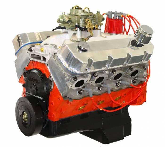 Blue Print - PSM5400CTC1 - BluePrint Engines 540CI 670HP Pro Series Stroker Marine Crate Engine, Big Block GM Style, Dressed Longblock with Carburetor, Aluminum Heads, Roller Cam