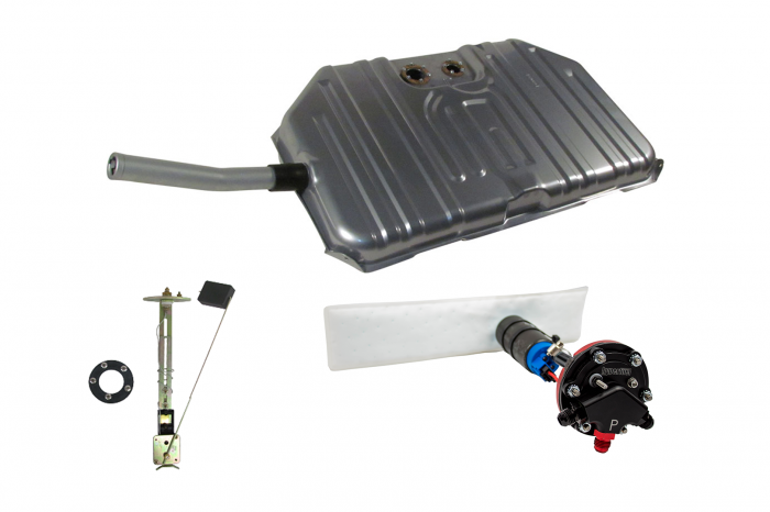 Hyperfuel Systems - 1971-72 El Camino and GMC Sprint Notched Corner EFI Tank and 340LPH Pump Hyperfuel 47015