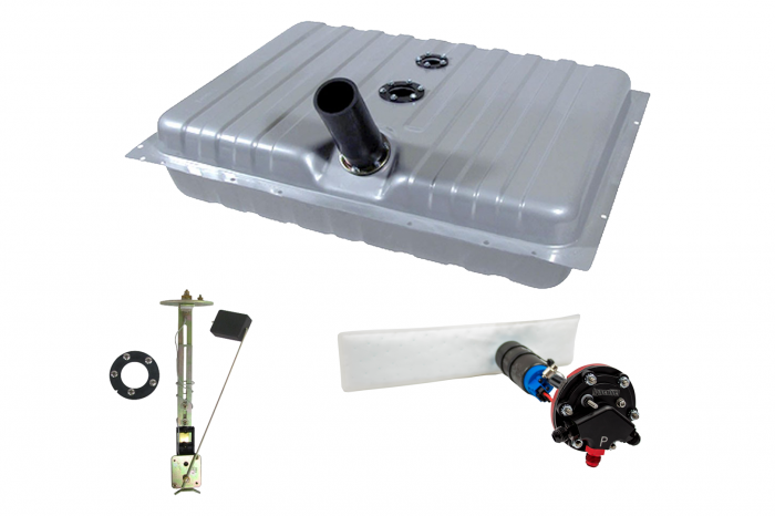 Hyperfuel Systems - Fuel Tank 1964-8 Mustang Cougar EFI Fuel Tank with 40017 Pump Kit Hyperfuel 48004