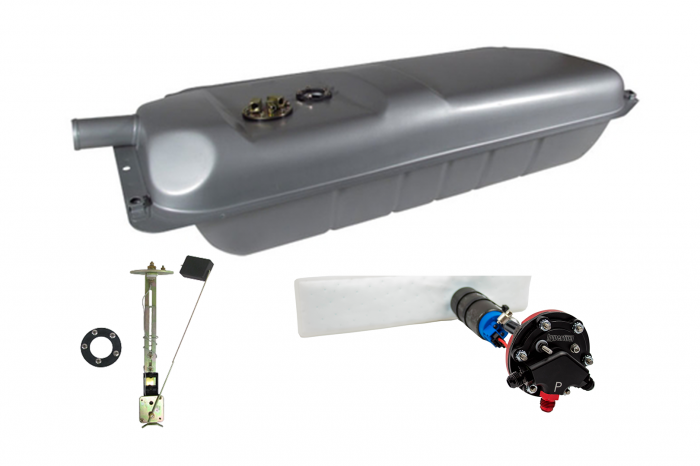 Hyperfuel Systems - Fuel Tank 1938-40 Ford EFI Fuel Tank with 240-33 Ohm Sender with 40017 Pump Kit Hyperfuel 48021