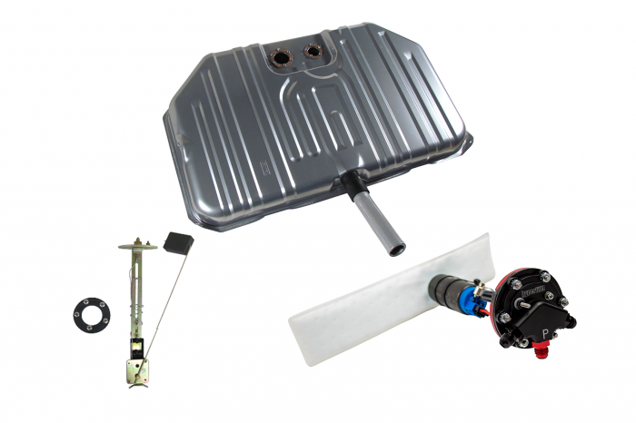 Hyperfuel Systems - Fuel Tank 1968-69 Chevelle Notched Corner EFI Fuel Tank Sender and Straps with 40017 Pump Kit Hyperfuel 48028
