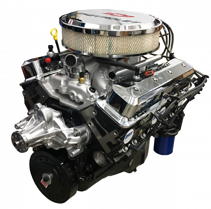 PACE Performance - Small Block Crate Engine by Pace Performance 390hp Roller Cam Edelbrock Pro-Flo4 EFI GMP-12691672-1EX