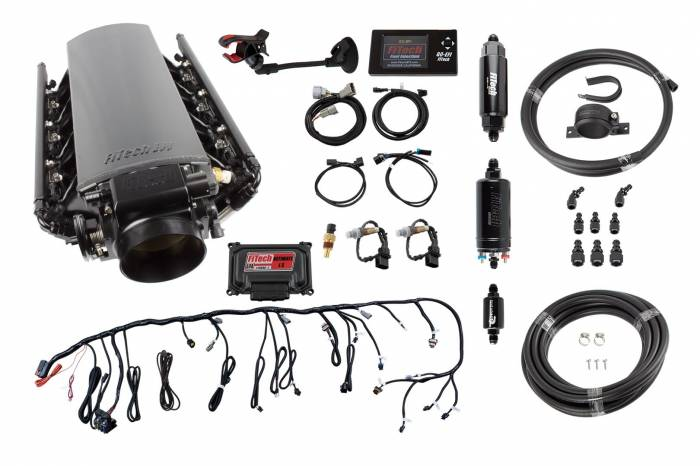 FiTech Fuel Injection - FTH-71007 - Ultimate Tall LS1/LS2/LS6 500HP w/ Trans Control + In-line Fuel Pump Master Kit