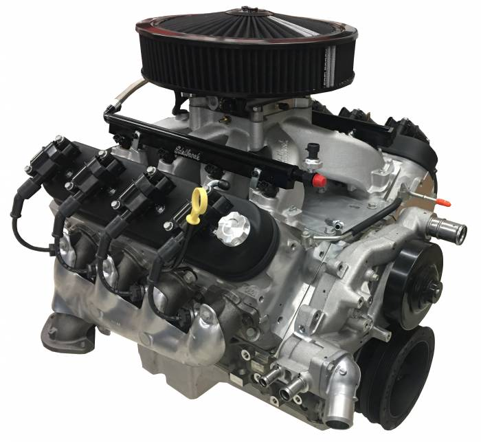 PACE Performance - GMP-19370411-PEX  Pace Prepped & Primed LS3 495HP Engine with Edelbrock Pro-Flo 4 and Holley Swap Oil Pan Installed