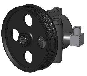 Kwik Performance - 10206-06 - Fbody Type II Aluminum Power Steering pump with 90 Hose Barb