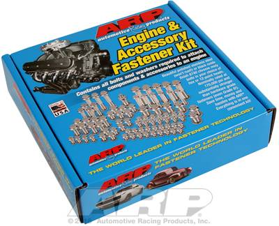 ARP - ARP5349805 - ARP Engine & Accessory Fastener Kit - Gen III/LS Series Small Block, Black Hex