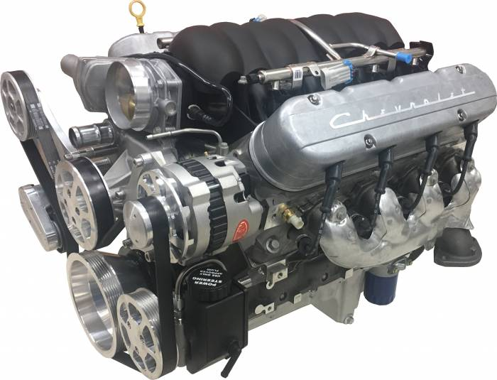 PACE Performance - GMP-19256529-1ED - Pace Performance LS3 525HP Crate Engine Package, prime and prepped