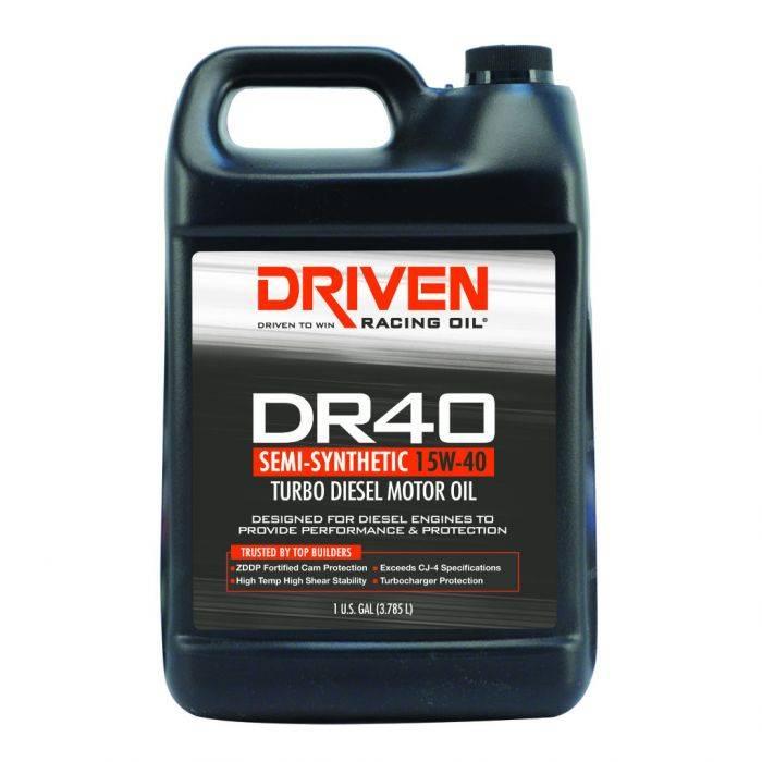 Driven Racing Oil - JGD-05408 - CJ-4 Diesel Oil 15W-40 - Gallon Jug
