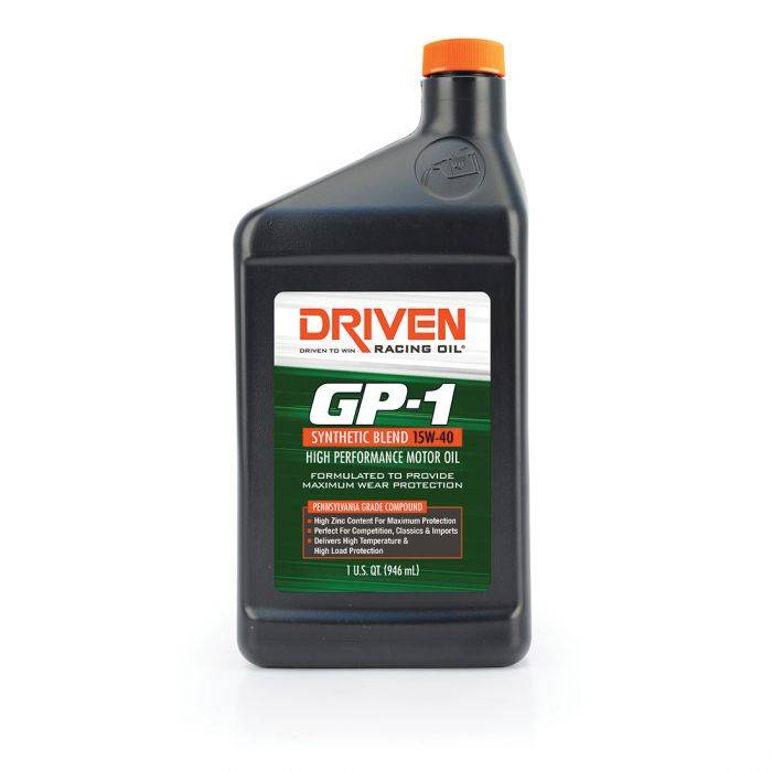 Driven Racing Oil - JGD-19406 - GP-1 Synthetic Blend 15W-40 - Quart