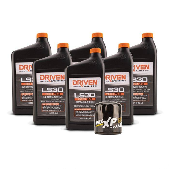Driven Racing Oil - JGD-20634K - LS30 Oil Change Kit for Gen IV GM Engines (2007-Present) w/ 6 Qt Oil Capacity