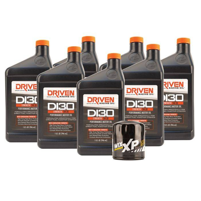 Driven Racing Oil - JGD-20735K - DI30 Oil Change Kit for 2014-2018 Corvette Stingray GM LT1 Engine w/ 7 Qt Oil Capacity