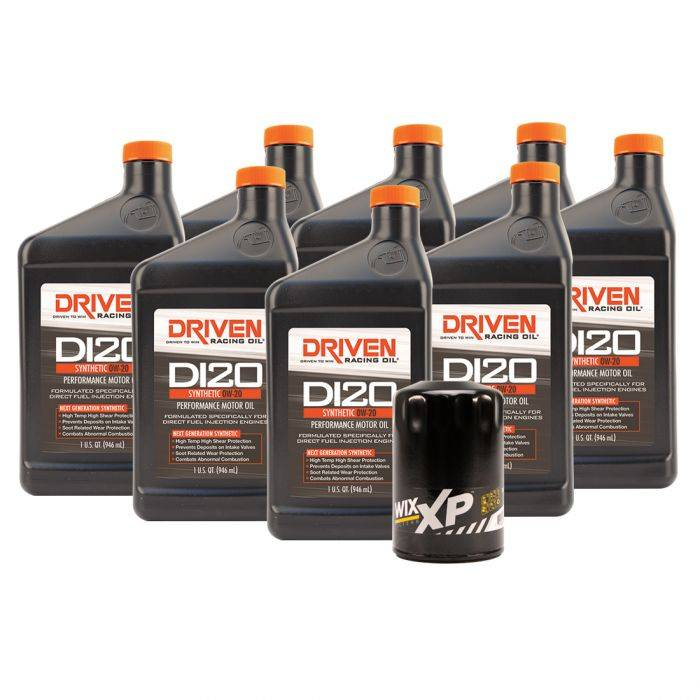 Driven Racing Oil - JGD-20825K - DI20 Oil Change Kit for Gen V GM Truck Engines (2014- Present) w/ 8 Qt Oil Capacity