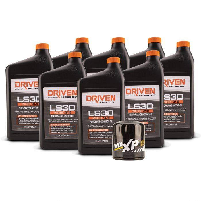Driven Racing Oil - JGD-20834K - LS30 Oil Change Kit for Gen IV GM Engines (2007- Present) w/ 8 Qt Oil Capacity