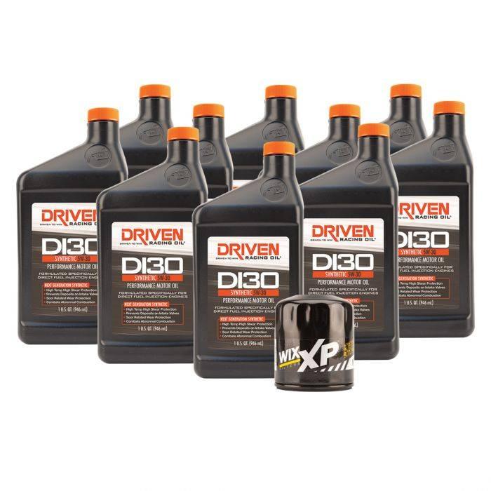 Driven Racing Oil - JGD-21035K - DI30 Oil Change Kit for Gen V GM LT1 & LT4 Engines (2014- Present) w/ 10 Qt Oil Capacity