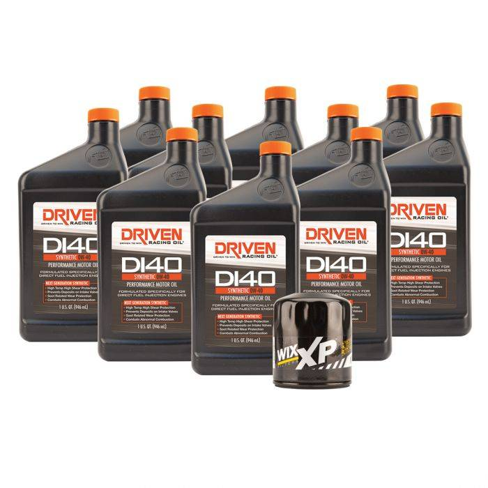Driven Racing Oil - JGD-21045K - DI40 Oil Change Kit for 2019 Gen V GM LT1, LT4, & LT5 Engines w/ 10 Qt Oil Capacity