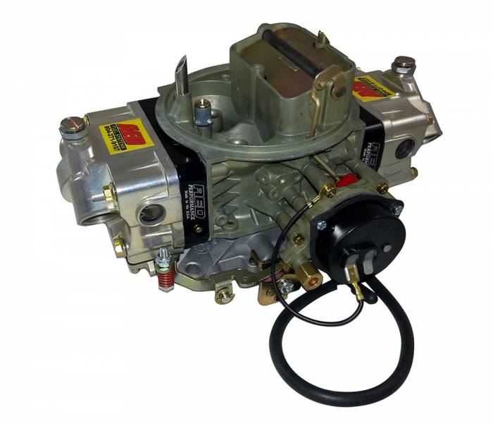 AED Performance - AED AL650HB-RD Aluminum 650CFM Blower Carb (Indexed Power Valve) w/Red Billet Metering Blocks