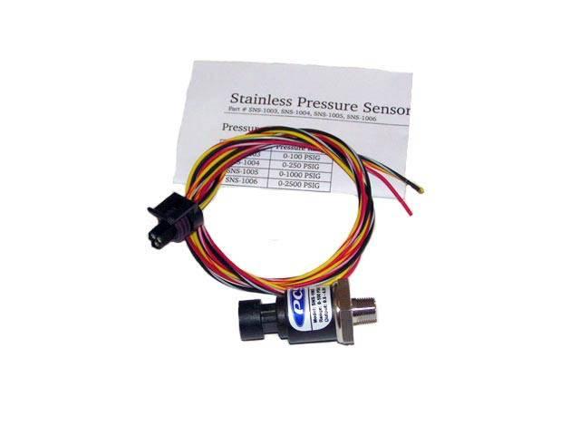 Powertrain Control Solutions - PCSA-SNS1003 - Pressure Sensor 0-100 PSI, 1/8 NPT Port w/ Harness