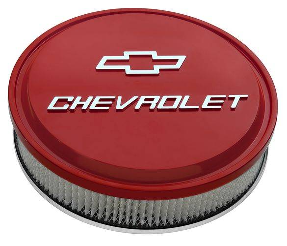 Proform - Air Cleaner Red Slant-Edge with Embossed Chevy Bowtie Logo Proform 141836