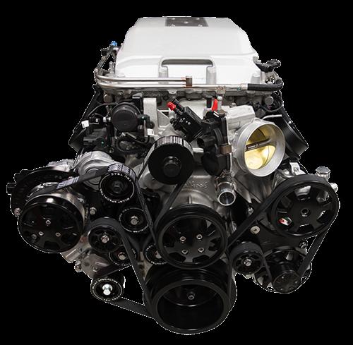 Billet Specialties - LSA Tru Trac System with A/C, Power Steering, and Alternator, Black Billet Specialties BLK13410