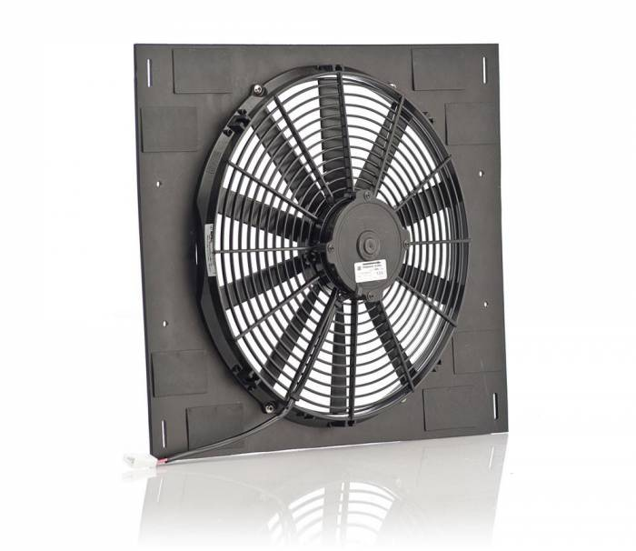 Be Cool Radiator - 16 Inch Qualifier Euro Black Shroud w/Euro Black Medium Profile Puller Fan Be Cool Radiator 75614