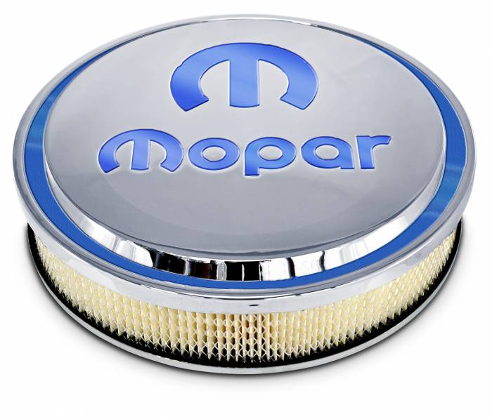 "Proform - Mopar Air Cleaner Slant-Edge 14"" Polished Recessed Blue Emblem Proform 440832"