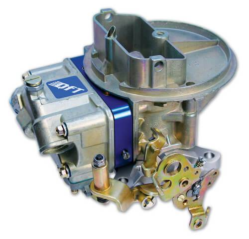 PACE Performance - Carburetor, Q-Series Circle Track, 2-Barrel, 500 CFM, Holley Flange, No Choke, Dual Inlet, Blue / Chromate, Alcohol Quick Fuel Q-500-CTA(800-QFTQ-500-CTA)