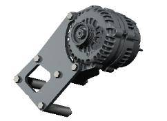 Kwik Performance - K10195 - Truck SUV LSx Alternator Only Bracket