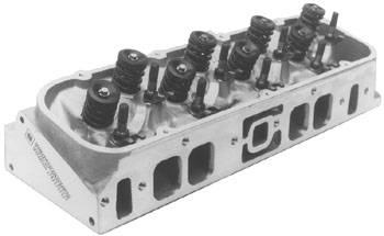 "Chevrolet Performance Parts - 12363392 - Complete Oval Port Aluminum Head 2.19"" Valves"