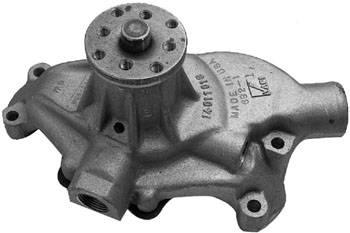 "Chevrolet Performance Parts - 19168604 - Short Leg Aluminum Water Pump, Small Block Chevy, Standard ""V"" belt rotation With 3/4"" Pilot shaft."