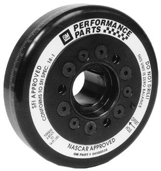 Chevrolet Performance Parts - 24502534 - Heavy Duty Race, SFI Approved Torsional Damper - Standard Hub