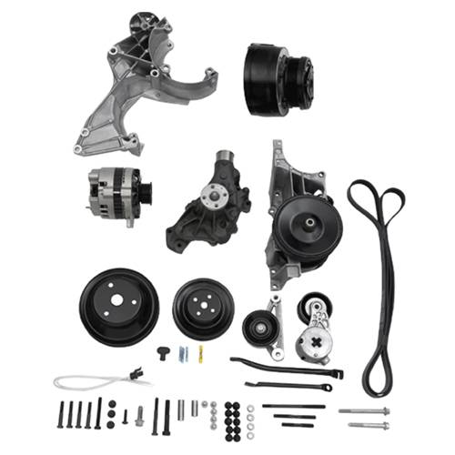 "Chevrolet Performance Parts - 12497698 - Small Block Chevy Serpentine Accessory Belt Drive System ""Deluxe With Air"""