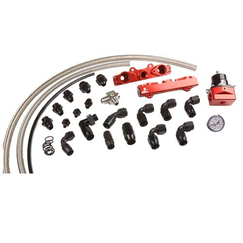 Aeromotive - AEI14137 - 04-06 Subaru 2.5L STI Fuel Rail System (Return-Style)